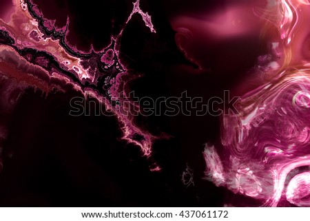 Abstract color dynamic background with lighting effect, futuristic bright painting texture for creativity graphic design, fractal art, digital illustration work. - stock photo