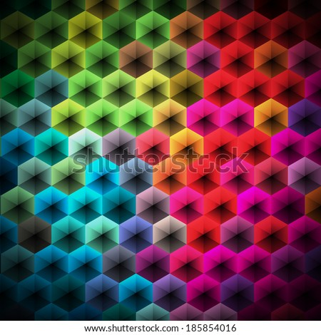 Abstract color geometric background design.JPG version