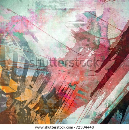 Abstract color grunge background - stock photo