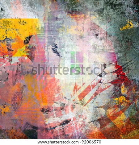 Abstract color grunge composition - stock photo