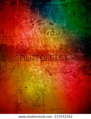 abstract color grunge wall - stock photo