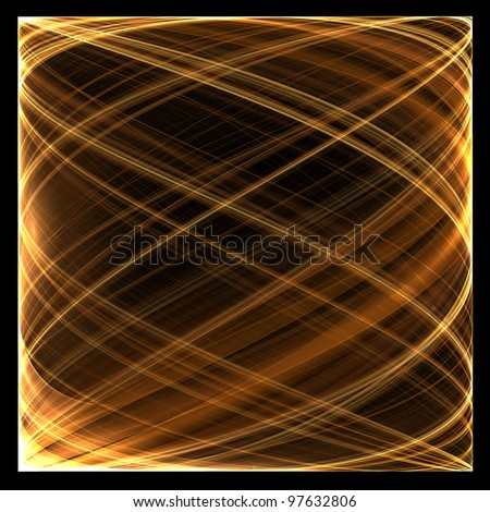 Abstract color image on a black background. Curves and ornaments futuristic design. - stock photo