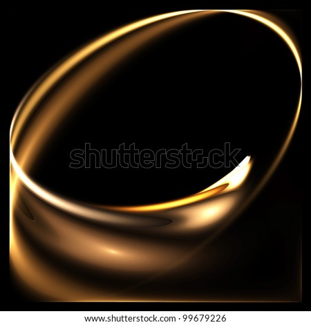 Abstract color image on a black background design illustration. Curves and ornaments futuristic design. - stock photo