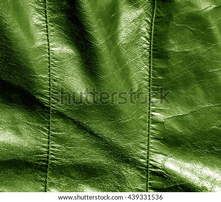 Abstract color leather texture with stiches. Background and texture for design. - stock photo