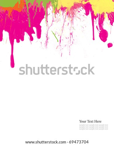 Abstract color painted background - stock photo