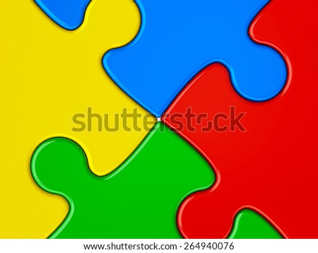 Abstract color puzzle background, three-dimensional rendering - stock photo