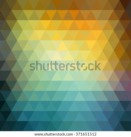 Abstract color retro geometric background.  Low poly, colorful triangle pattern