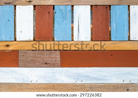 Abstract color wood wall texture - stock photo