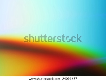 Abstract colored background in red, yellow, blue and green