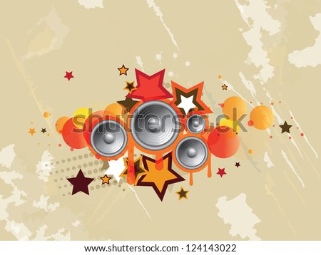 Abstract colored musical background - stock photo