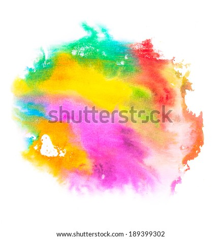 Abstract colored paint blob, isolated on white background - stock photo