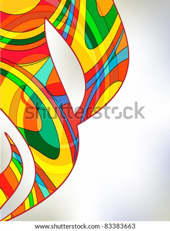 Abstract colorful background from a multicolored glass mosaic - stock photo