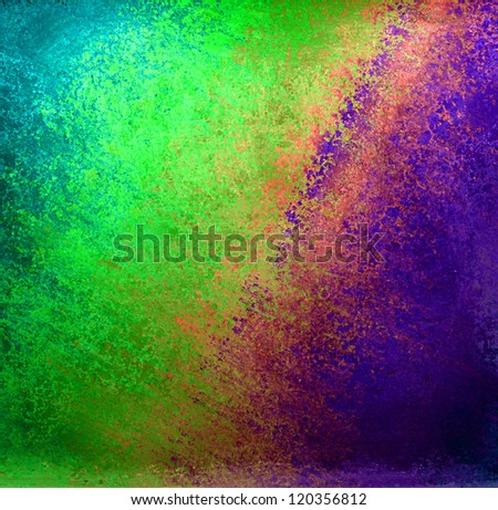 abstract colorful background, rainbow colors of pink teal light blue green in streaky messy pattern of vintage grunge background texture design for tie dye background or web design banner retro style - stock photo