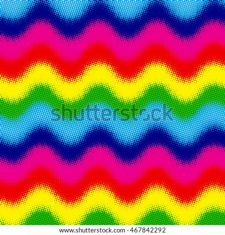 Abstract colorful background with halftone effect