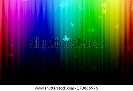 Abstract colorful background with leaves vector . - stock photo