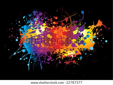 abstract colorful background with room to add your own copy