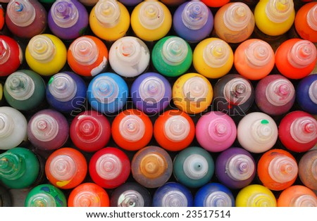 abstract colorful bottle for painting