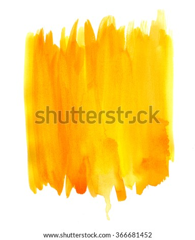Abstract colorful brush stroke. Watercolor hand painted texture. - stock photo