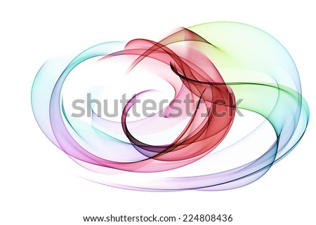 abstract colorful circles - stock photo