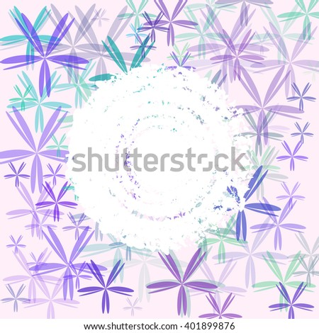 Abstract colorful floral cover. Raster version. - stock photo