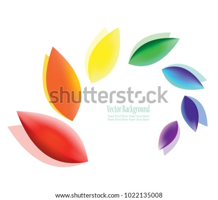 Abstract Colorful Fluttering Petals Symbol Harmony Stock