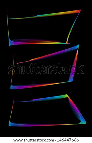 abstract colorful frames