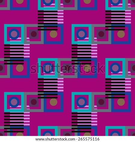 Abstract colorful geometric seamless pattern. Kaleidoscope background texture  - stock photo