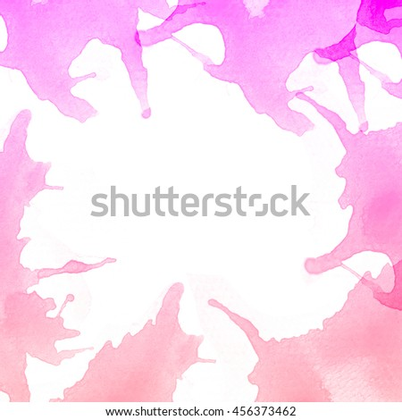 Abstract colorful green watercolor art background hand paint on white background,It stays on isolated background.