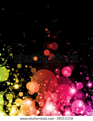 abstract colorful light in vibrant exciting shades - stock photo
