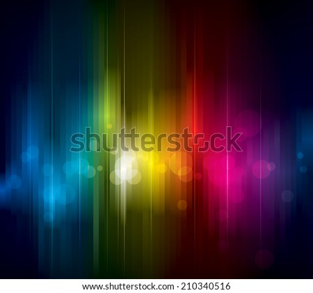 Abstract colorful light on dark background. Raster. - stock photo