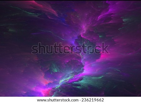 Abstract colorful lightning fractal background  - stock photo