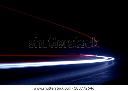 Abstract colorful lights in car - stock photo