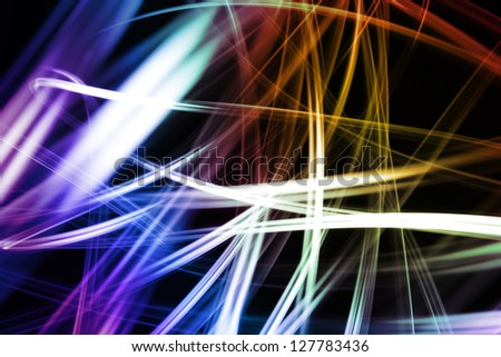 Abstract colorful lines futuristic space background - stock photo