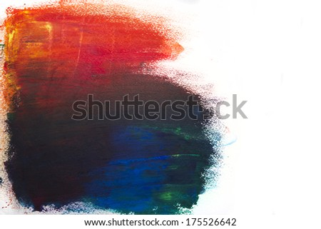 Abstract colorful oil paint texture - stock photo