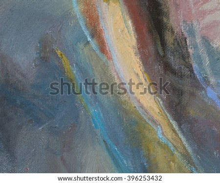 Abstract colorful paint on canvas - stock photo