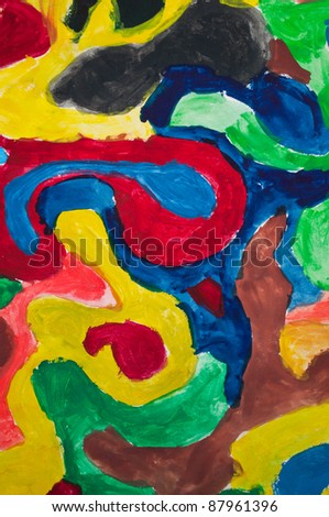 Abstract colorful painting - stock photo