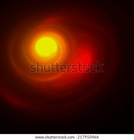 Abstract colorful sky illustration. Moon  - stock photo