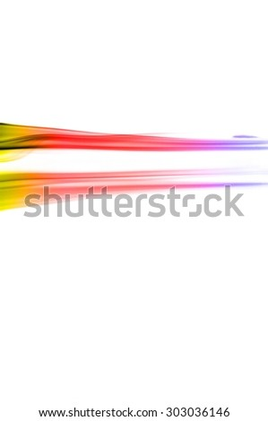 Abstract colorful smoke on white background, smoke background,colorful ink background,yellow,blue,red