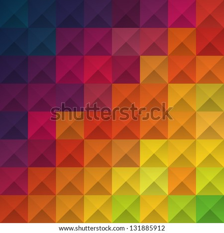 Abstract colorful squares pattern.