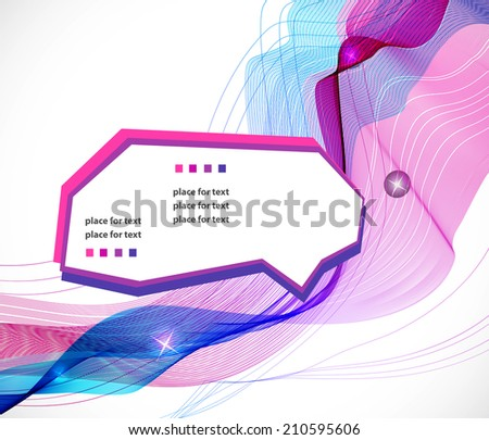 Abstract colorful template background, Brochure design with beautiful wave