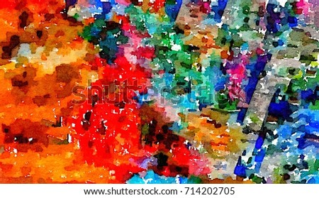 Abstract Colorful Tone For Background Wallpaper Template Splash Color Art Free Form Pattern