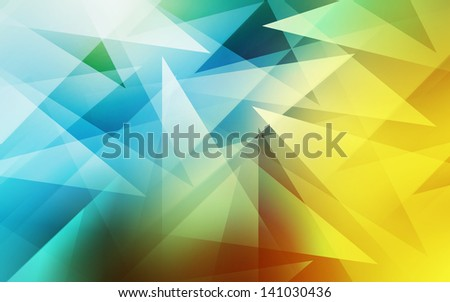 Abstract colorful triangle - stock photo