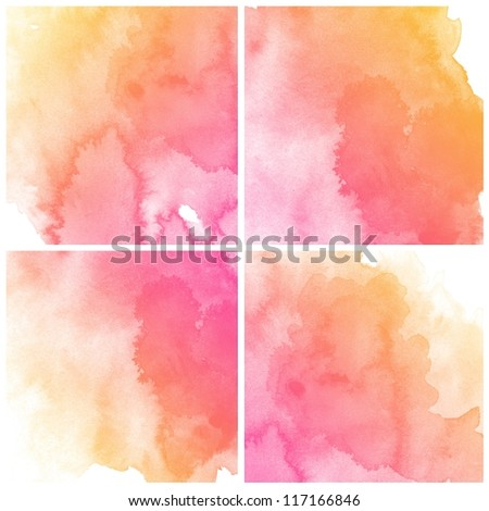 Abstract colorful water color art background hand paint - stock photo