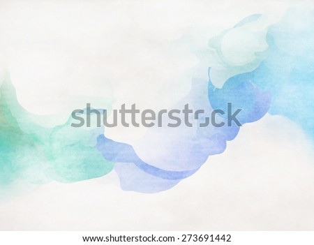 Abstract colorful water color for background. Soft background. - stock photo