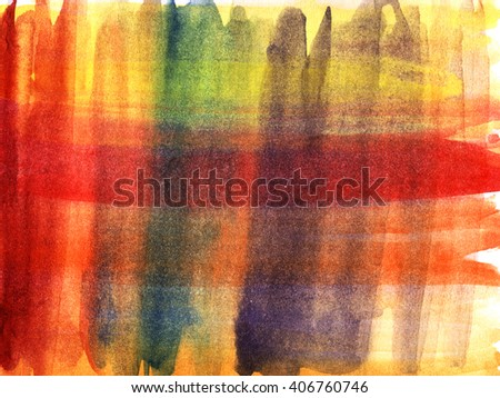Abstract colorful watercolor background. Modern design element. The horizontal and vertical stripes. - stock photo