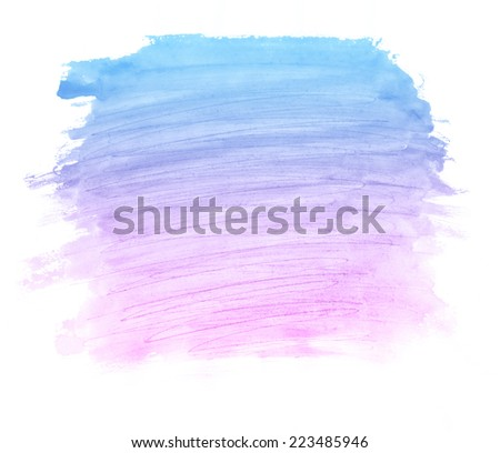 Abstract colorful watercolor blot background. Pastel aquarelle colorful texture.  - stock photo