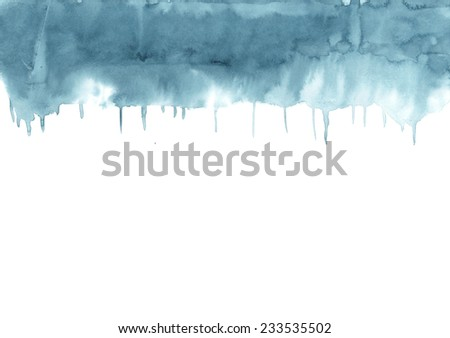 Abstract colorful watercolor wet on wet paper. Hand drawn aqua color background texture.