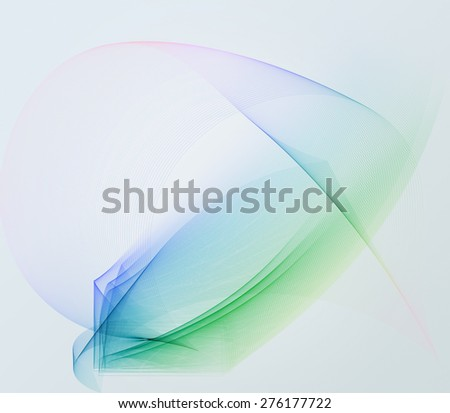 abstract colorful waves and smooth transparent curves with partially added blur filter