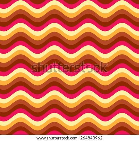 Abstract colorful wavy background. Illustration. Horizontal stripes. - stock photo