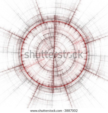 abstract compass rendering - stock photo